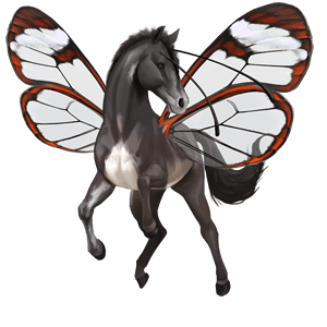winged riding unicorn french trotter liver chestnut