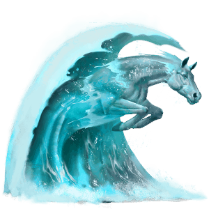 water horse wave
